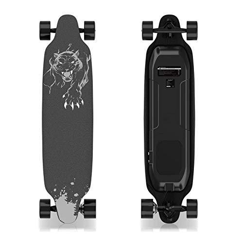 GeekMe Elektro-Skateboard mit Fernbedienung, 400-W-Longboard für bürstenlose Motoren für Profis, 35 x 9-Zoll-Elektroplatine für Jugendliche und Erwachsene, 20 MPH Höchstgeschwindigkeit, max zu 120kg