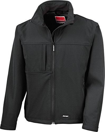 Result R121A Klassische Softshell-Jacke, Schwarz, Größe XL