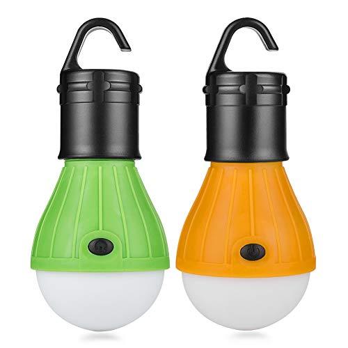 Eletorot LED Campinglampe Zeltlampe Glühbirne Set-Notlicht COB150 Lumen für Camping, Abenteuer,Angeln, Garage, Notfall, Stromausfall Wasserdicht, 2 Stücke