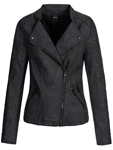 ONLY Female Jacke Leder-Look 40Black