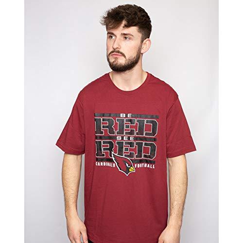 Fanatics NFL Football T-Shirt Arizona Cardinals Hometown Be Red. See Red Rot T (L)