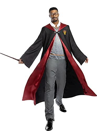 Funidelia | Harry Potter Kostüm 100% OFFIZIELLE für Herren und Damen Größe XL ▶ Film und Serien, Zauberer, Gryffindor, Hogwarts - Farben: Schwarz, Zubehör für Kostüm