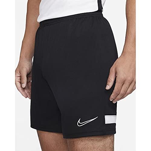 Nike Herren Dri-fit Academy Fußball-Shorts,Schwarz / Weiss / Weiss / Weiss,L