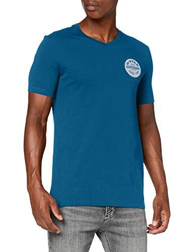 G-STAR RAW Mens Originals Logo Slim T-Shirt, Cricket Blue 336-864, Small