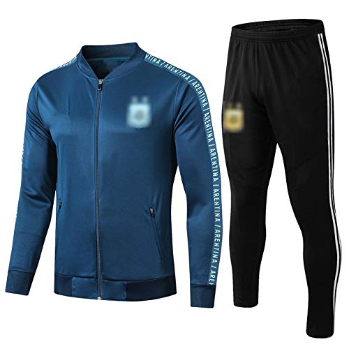 PUS 19-20 Argentinien Trainingsjacke Fußball International Stadt Sportbekleidung Langarm Sport Outdoor Sports Royal Blue-S