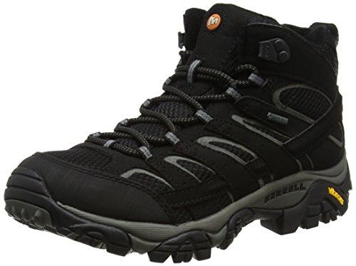 Merrell Herren Moab 2 MID GTX Trekking und Wanderstiefel, Schwarz (Black), 43.5 EU
