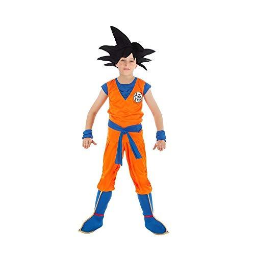 Generique - Son Goku-Dragonball Z-Lizenzkostüm für Kinder orange-blau - 116 (5-6 Jahre)