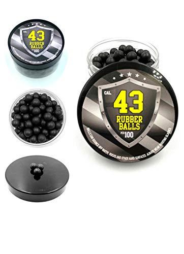 SSR 100x Hard Rubber Balls Paintballs Reballs for Home Defense Pistols and Paintballs Markers in 43 Caliber - Hartgummibälle in 43 Kaliber