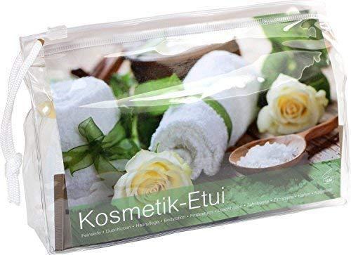 Medi-Inn Kosmetik-Etui Reise-Set Kulturbeutel, transparent mit Zipper