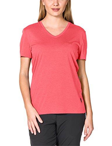 Jack Wolfskin Damen Shirt Crosstrail T, Grapefruit, XL, 1801692-2037005