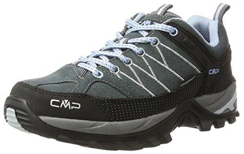 CMP Damen Rigel Low Wmn Shoes Wp Trekking-& Wanderhalbschuhe, Schwarz (Graffite-Azzurro 77bd), 39 EU