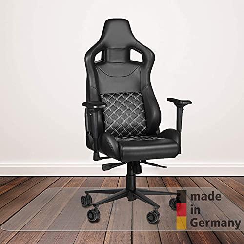Königwerk Bodenschutzmatte Bürostuhl - rutschfeste Schreibtischstuhl Unterlage - 91x122 cm - Made in Germany - Bürostuhlunterlage für Hartböden