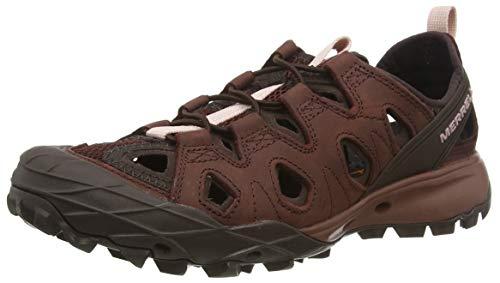 Merrell Damen Choprock Leather Shandal Aqua Schuhe, Rot (Raisin), 40.5 EU