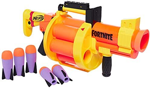 Nerf Fortnite GL Raketen-Blaster – Trommel für 6 Raketen, Pump-Action – enthält 6 Nerf Raketen – für Kinder, Jugendliche, Erwachsene