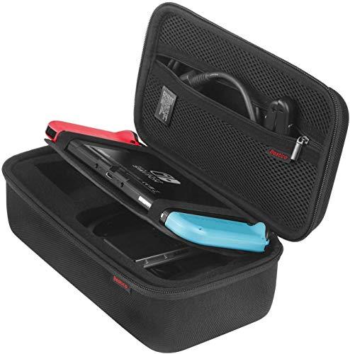 Bestico Tasche für Nintendo Switch und Switch OLED Modell - Tragetasche für Nintendo Switch Konsolen, Netzteil, HDMI-Kabel, Joycon Grip,Joycon Strap mit 10 Spielkassetteng