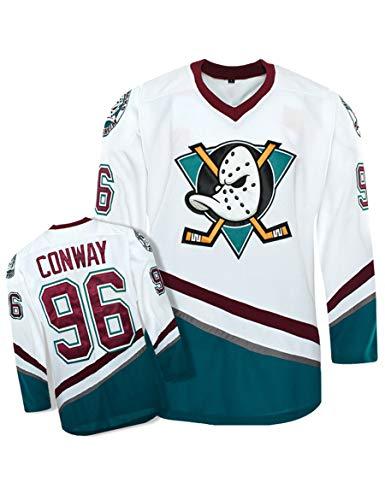 Charlie Conway #99 Anaheim Ducks Film Eishockey Trikots Langarm für Herren Freizeitshirt T-Shirt