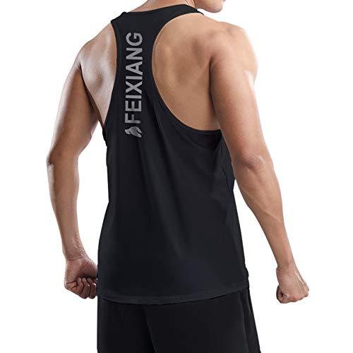 MEETWEE Tank Top Herren, Sportshirt Ärmellos Achselshirts Muskelshirt Unterhemd Funktionsshirt Tankshirt für Training Fitness Bodybuilding