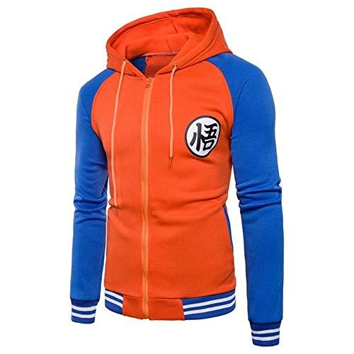 Herren Winter Mosaik Hooded Zip Hoodie Mantel, 7 Dragon Ball Wukong Sweatshirt