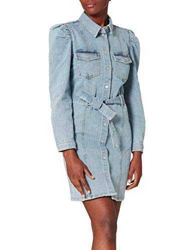 ONLY Damen ONLMONICA LS Life DNM Dress BJ Kleid, Light Blue Denim, S