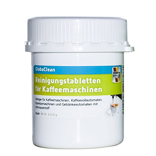 Reinigungstabletten für Kaffeevollautomaten 50 Tabletten je 2g für Kaffeemaschine Espressomaschine Kapselmaschine Padmaschine Reinigungstabs Made in Germany