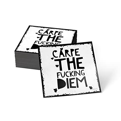how about tee? Magnet-Sticker: Carpe The Fucking Diem - Kühlschrankmagnet mit Spruch