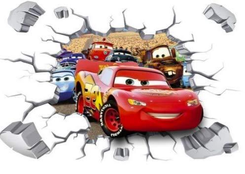Kibi Cars 3D Aufkleber Cars Wandtattoo Cars Wandaufkleber Cars 3 Wandsticker Cars Disney Wandtattoo Cars Kinderzimmer, Dekoration, Abnehmbare Aufkleber Wall Stickers Cars