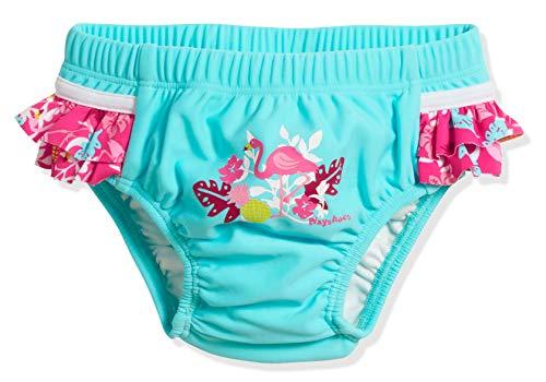 Playshoes UV-Schutz Windelhose Flamingo Capo d'Abbigliamento, Turchese (Türkis 15), 86 (Herstellergröße: 86/92) Baby-Mädchen