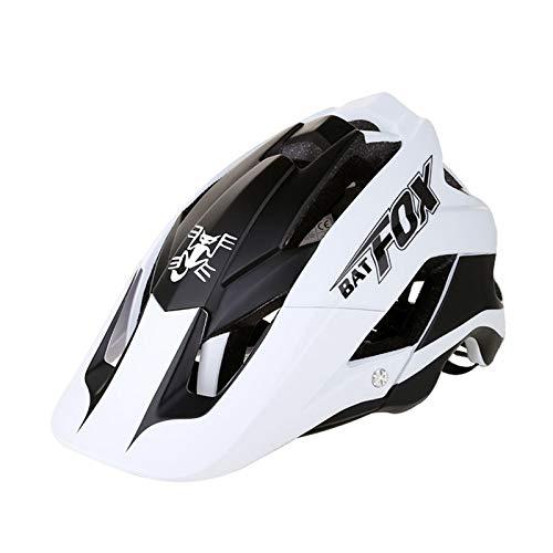 Zeroall Fahrradhelme Leicht Einstellbare Größe 56-62CM Radhelm für Damen Herren Erwachsene MTB Helm Fahrradhelme mit Abnehmbarem Visier für Fahrrad Skateboard Scooter Skaten(Schwarz Weiß)