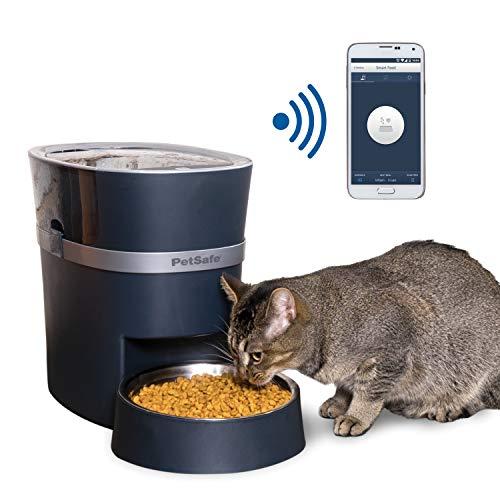PetSafe Smart Feed Futterautomat mit Smartphone-Steuerung und App-Funktion, Futteraumotat für Hund und Katze, Automatischer Futterspender für Trockenfutter, Wifi-Verbindung, Edelstahl Napf, 5,7 Liter