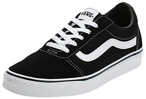 Vans Damen Ward Sneaker, Suede Canvas Black White Iju, 42 EU