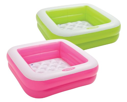 Intex Babypool Play Box Pool, Farblich Sortiert, 86 x 86 x 25 cm, Sortierte Farben