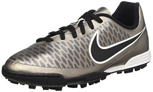Nike Mädchen Jr Magista Ola Tf Turnschuhe, Dorado / Negro / Blanco (Mtlc Pewter / Black-White), 38.5 EU