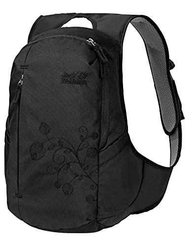 Jack Wolfskin Ancona, komfortabler Tagesrucksack für Frauen, Damen Rucksack mit schlankem Schnitt, praktischer Backpack extra für Frauen, Schwarz