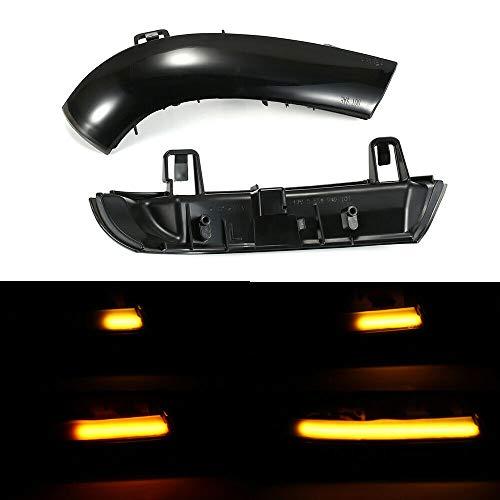Boomersun LED Blinker Blinkerleuchten Dynamische Ein Paar Spiegelblinker Auto Schwarz Passgenau für Golf 5 MK5 Passat B6