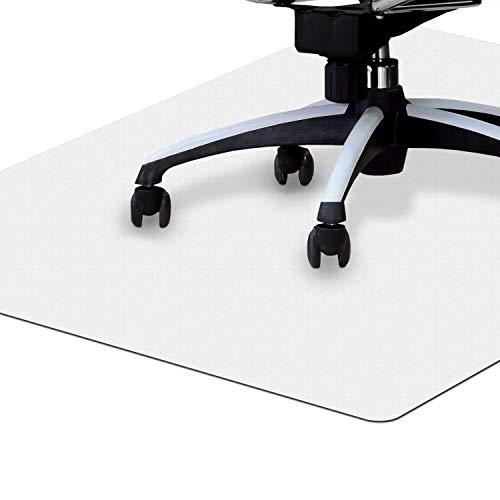 NAMZOFFICE® Bodenschutzmatte Transparent (90 x 120 cm) – Ökofreundliche Bürostuhl Unterlage für Hartboden, Laminat, Parkett - Robust, rutschfest, Kratzfest, Abriebfest & leises Rollen