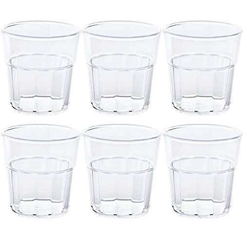 6 x bruchfestes Whiskyglas 250ml Universal-Glas aus hochwertigem Kunststoff
