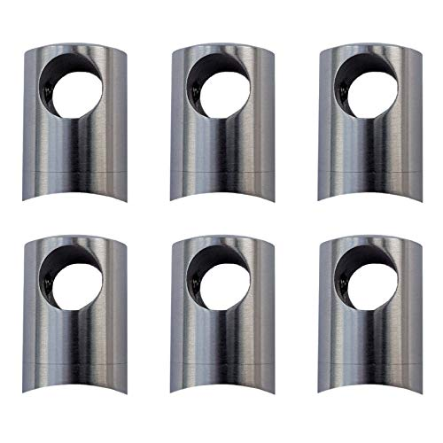 6 x Premium Querstabhalter Edelstahl Ø 22 mm für 12 mm Rundstäbe Stabhalter Relinghalter Traversenhalter von SO-TOOLS®