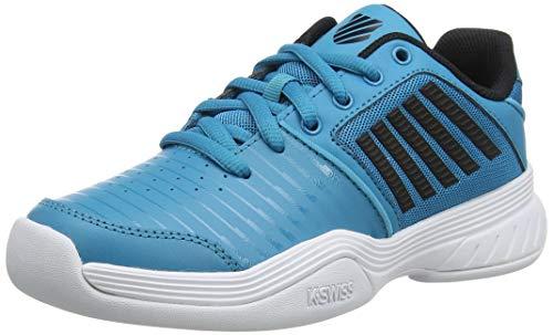 K-Swiss Performance KS TFW Court Express Carpet WHT Tennisschuh, Algiers Blue/Black/White,37.5 EU