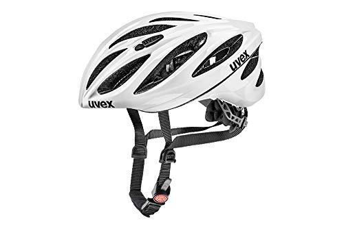 Uvex Unisex– Erwachsene, boss race Fahrradhelm, white, 52-56 cm