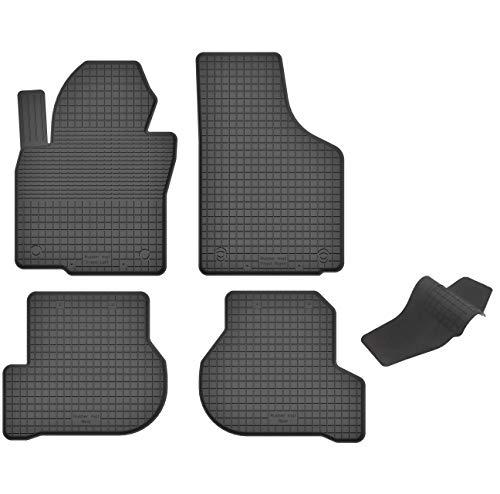 KO-RUBBERMAT Gummimatten mit Tunnel geeignet zur VW Golf V VI Plus (Bj. 2003-2013) ideal angepasst 5-Teile EIN Set