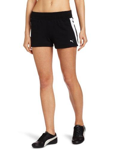 PUMA Damen Active Shorts - Schwarz - Klein