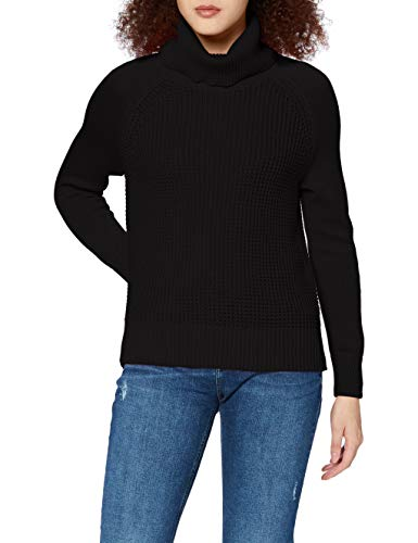 edc by ESPRIT Damen 100CC1I304 Pullover, 001/BLACK, S