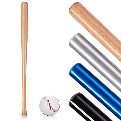 NAJATO Sports Baseballschläger – Baseballschläger Holz inkl. Baseball – Robuster Baseballschläger aus Aluminium oder Holz – Baseball Setger aus Aluminium oder Holz – Baseball Set