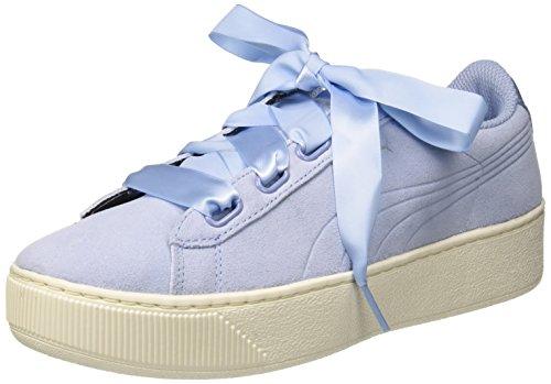 PUMA Damen Vikky Platform Ribbon S Sneaker, Blau (Cerulean-Cerulean), 38 EU