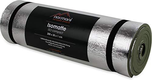 Isomatte Compact Aluminium Thermo Matte Isoliermatte Camping Outdoor leicht Farbe Olive