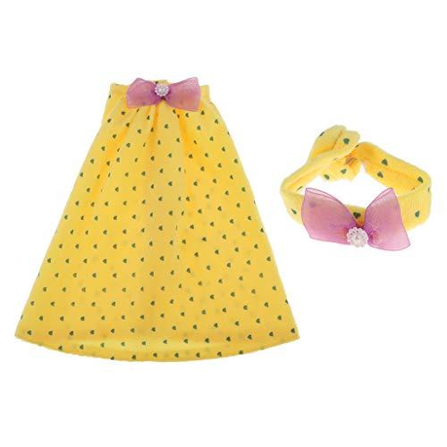 Baoblaze Puppenkleidung Gedruckt Pyjama Nachtwäsche Schlafanzug für 1/3 Night Lolita BJD Puppen - # 1