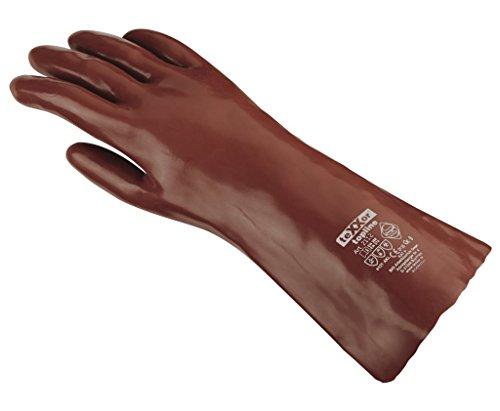 teXXor Handschuhe Chemikalienschutzhandschuhe PVC ROTBRAUN rotbraun 10
