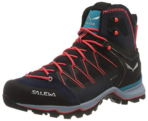 Salewa Damen WS Mountain Trainer Lite Mid Gore-TEX Trekking-& Wanderstiefel, Premium Navy/Blue Fog, 40.5 EU