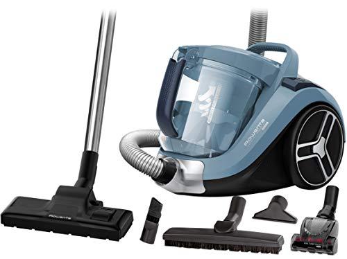 Rowenta RO4871 Compact Power XXL Animal   Beutelloser Staubsauger   2,5L Staubvolumen   Kompaktes Design   Extreme Saugleistung   Vacuum-Cleaner   Hocheffizienter Saugkopf   blau/silber