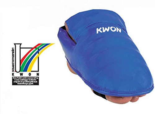 KWON Karate Fußschützer, blau, Gr. S